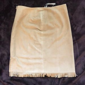 Authentic tan suede skirt by Christ Leather